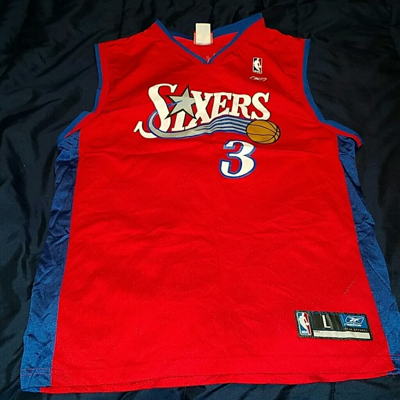 best sneakers fa309 8744e Throwback Philly 76ers Allen Iverson Jersey